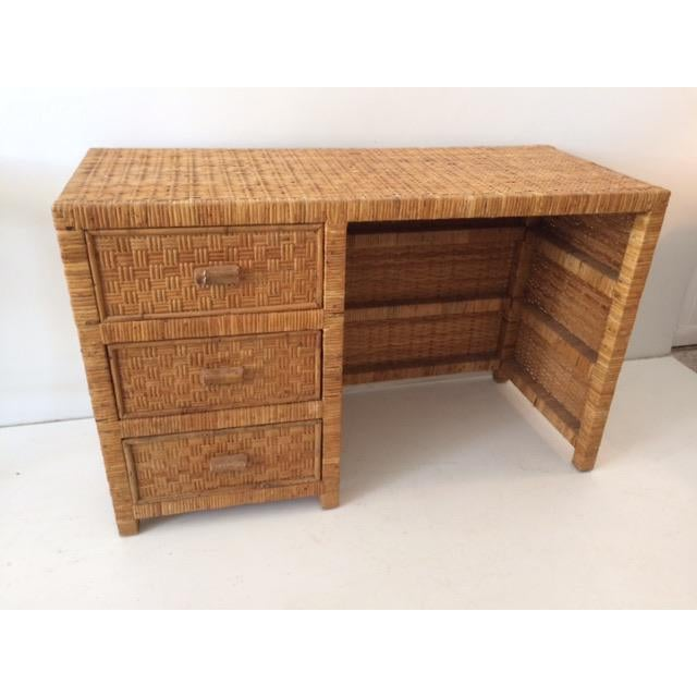 1980s 1980s Boho Chic Bielecky Brothers Writing Desk For Sale - Image 5 of 13