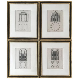 Set of Four Gothic Architecture Prints by Batty Langley For Sale