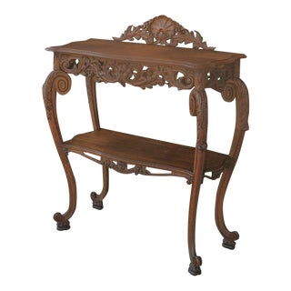 19th Century French Server Dessert Table 2-Tier Sideboard Console Sofa Table For Sale