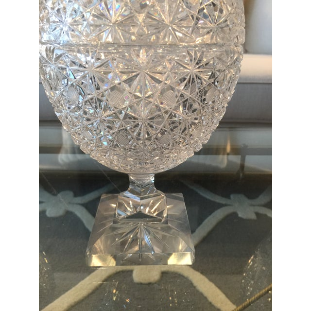 Vintage Russian Cut Crystal Pedestal Compote For Sale In Chicago - Image 6 of 6