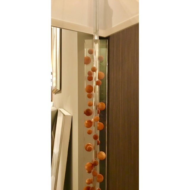 Modern Acrylic Floor Lamp For Sale - Image 4 of 7