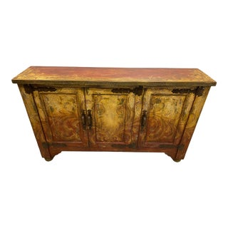 Vintage Italian Painted Console/Cabinet For Sale