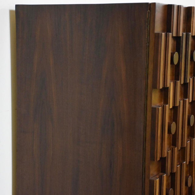 Brutalist Walnut Armoire - Image 5 of 11