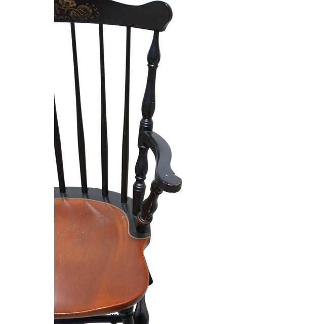 Antique Hitchcock Primitive Dining Chairs - Set of 6 For Sale - Image 9 of 11