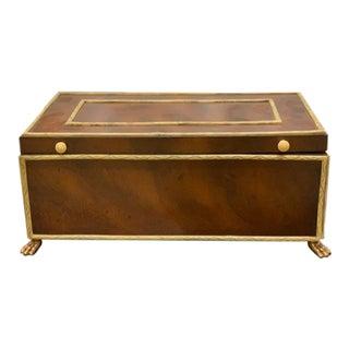 Art Deco Maitland-Smith Swirl Mahogany Box For Sale