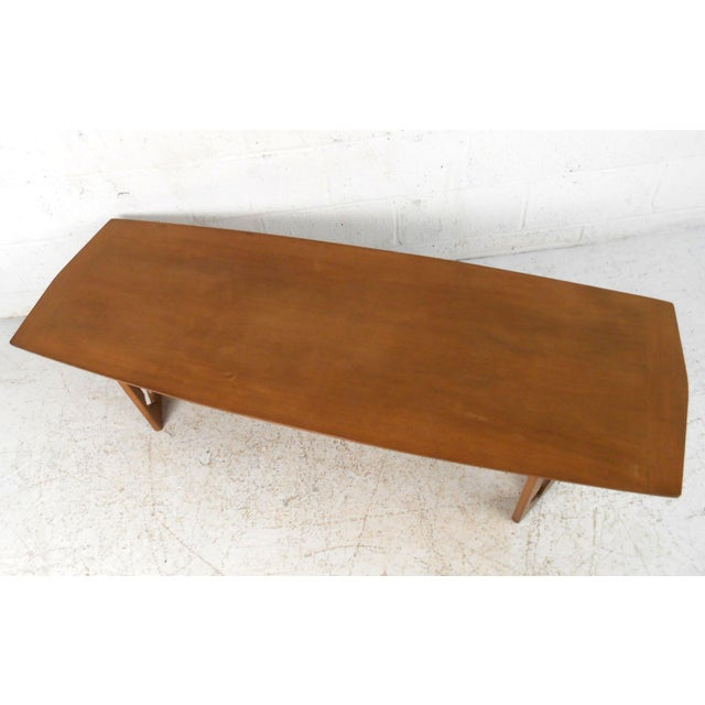 Vintage Modern Coffee Table With Sculptural Base For Sale In New York - Image 6 of 13