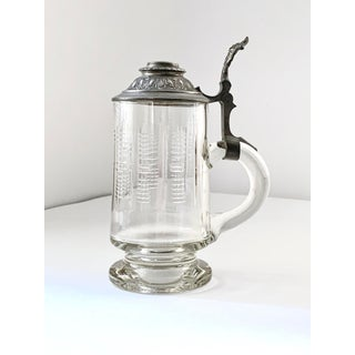 1960s Vintage Glass and Crystal Beer Steins - a Pair Preview