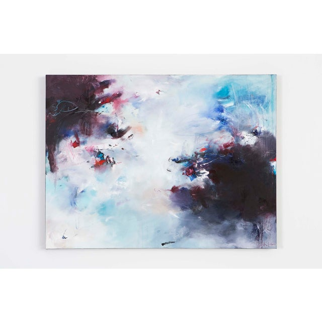 "Nicholas Kriefall fills his canvas with gentle yet severe depth and motion in ""Atrium"". A soft blue and white underlay..."