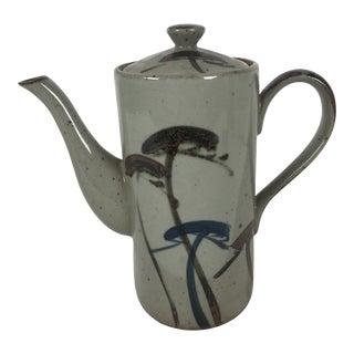 Vintage Japanese Mashiko Pottery Teapot 1970's For Sale