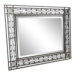 Art Deco Wall Mirror Attr Edgar Brandt For Sale