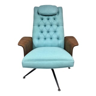 Mid-Century Modern Teal Plycraft Chair