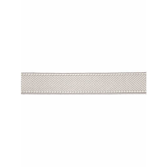 This tailored tape is woven in a classic herringbone that is finished with an accent edge stitch. The dry acrylic yarns...