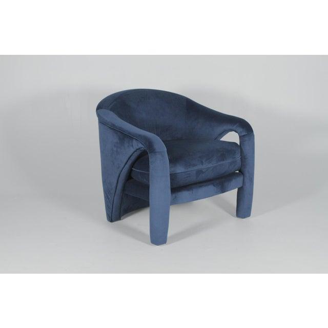 Vladimir Kagan 1970s Vintage Vladimir Kagan Indigo Sculptural Chairs - A Pair For Sale - Image 4 of 11