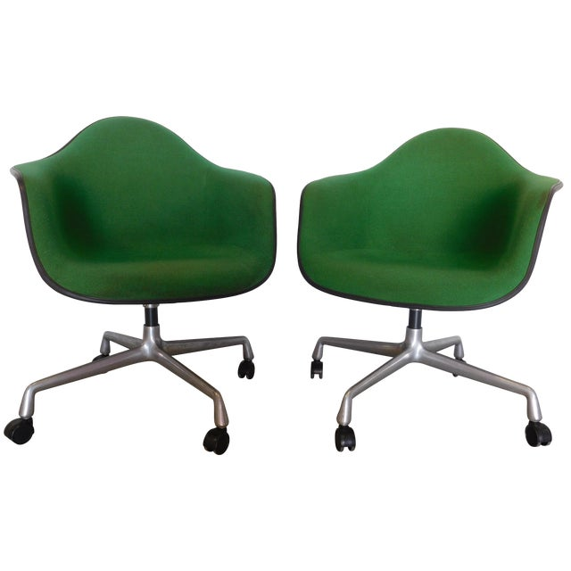 1979 Herman Miller Green Office Chairs - Pair - Image 1 of 11