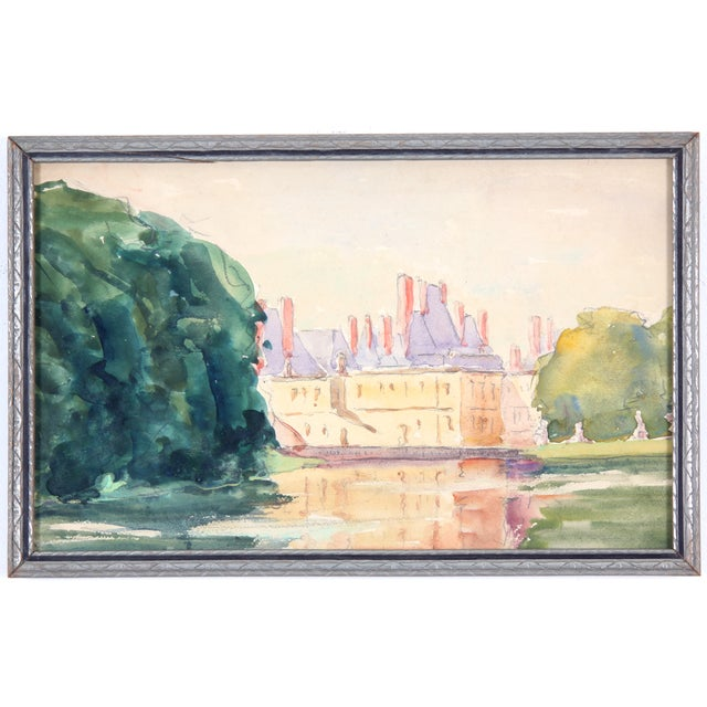 """Chateau in France"" Watercolor Painting - Image 1 of 4"