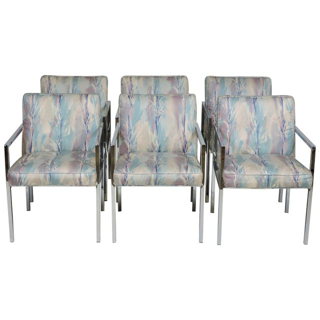Six Design Institute of America Dia Mid-Century Modern Chrome Dining Chairs For Sale - Image 11 of 11