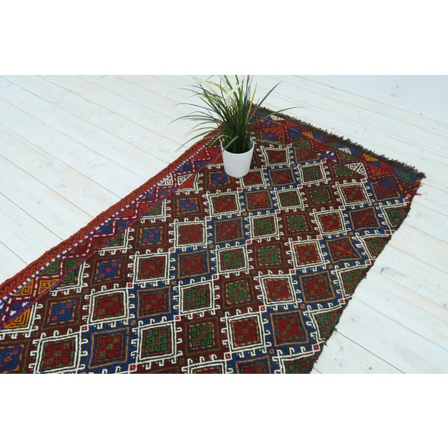"Textile Vintage Anatolian Kilim Runner-2'11'x11'2"" For Sale - Image 7 of 13"