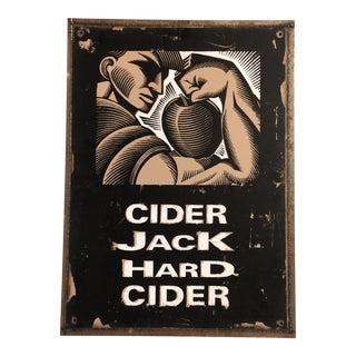 Original Vintage Cider Jack Hard Cider Metal Deco Advertising Sign For Sale