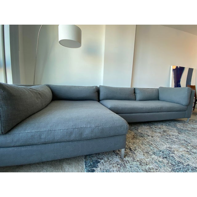 CB2 Cb2 Decker 2-Piece Asphalt Sectional Sofa Set For Sale - Image 4 of 6