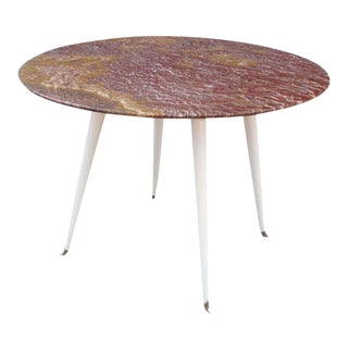 Red Marble Foyer Table, Attributed to Osvaldo Borsani For Sale
