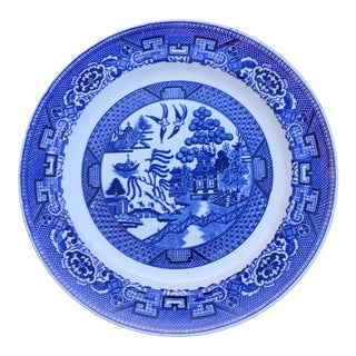 Antique Blue Willow Plate by Homer Laughlin For Sale