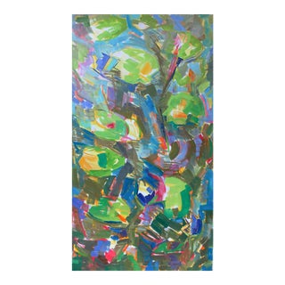"""Waterlilies"" by Trixie Pitts Large Abstract Oil Painting For Sale"