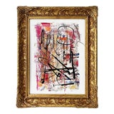 """Image of """"Delightful Distraction"""" Contemporary Abstract Acrylic Framed Painting by Gladys Tay For Sale"""