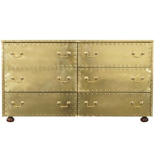 Vintage Brass Dresser by Sarreid For Sale