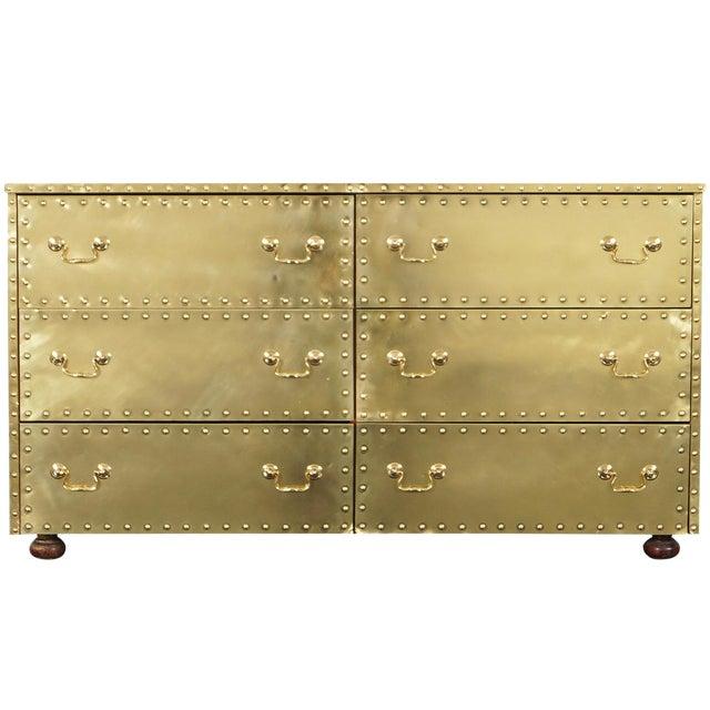 Vintage Brass Dresser by Sarreid For Sale
