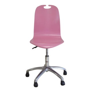 Pottery Barn Pink Rolling Office Chair.....Has Lever to Adjust Height