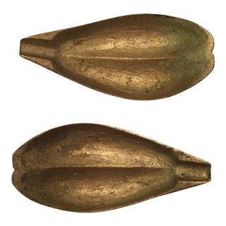 1960s Danish Modern Brass Leaves - a Pair For Sale