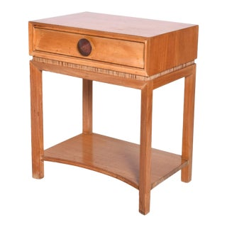 Mid Century Modern Paul Frankl NightStand by Brown Saltman, Decorative End Table For Sale