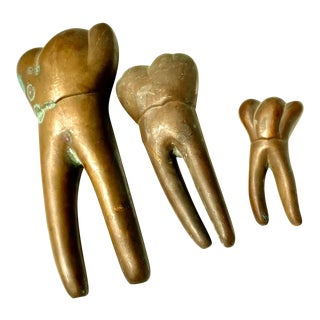 Copper Teeth Statuettes - Set of 3 For Sale