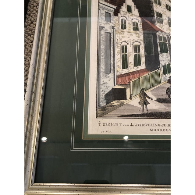 Antique Silver Framed Green Matted Bookplate Etchings - a Pair For Sale In Philadelphia - Image 6 of 13