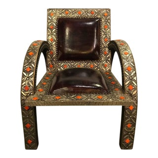 Royal Style Camel Bone Armchair
