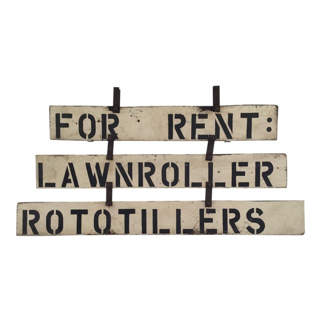Vintage 'For Rent' Farm Sign - Image 1 of 4