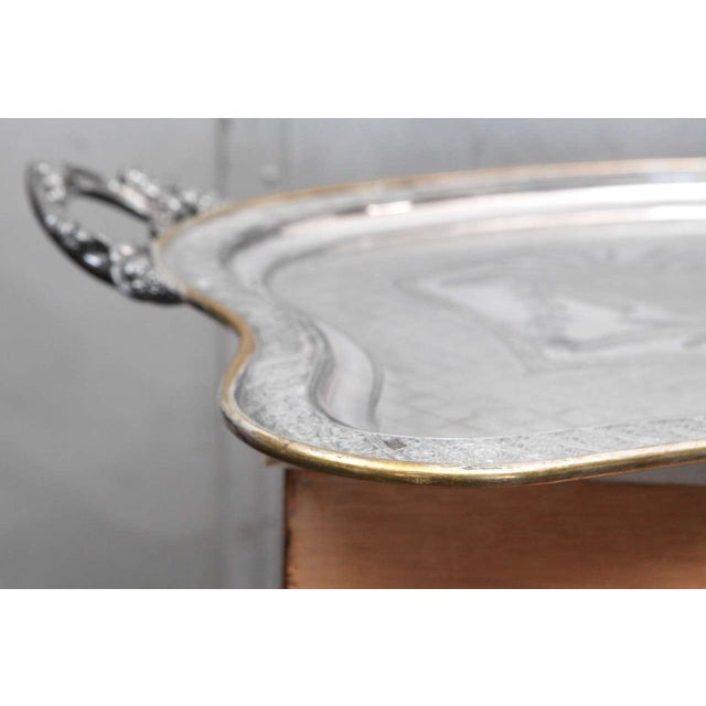 Gold Large Butler Serving Tray For Sale - Image 8 of 8