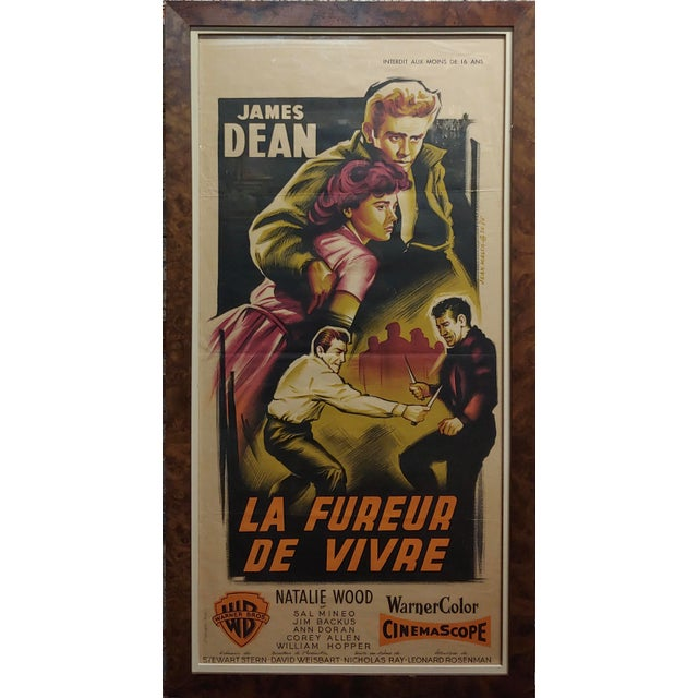 James Dean -Rebel Without a Cause -1955 Vintage French Poster For Sale - Image 9 of 9