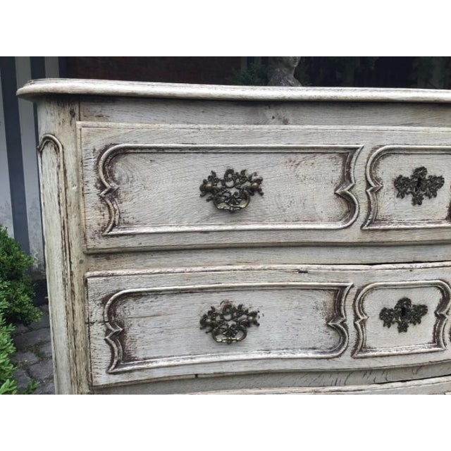 18th C Louis XV Bleached Oak Wood, 3 drawers, beautifully carved. Arrival into New Orleans January 2019
