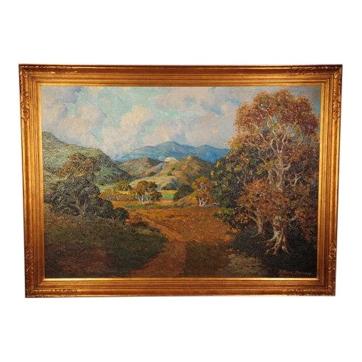 Howard Arden Edwards- Eagle Rock Canyon- California Plein Air Oil Painting c.1925 For Sale