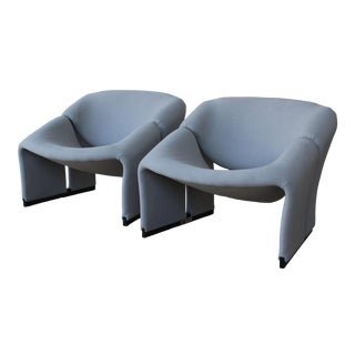 1960s Pierre Paulin F580 Groovy Lounge Chairs for Artifort, 1st Edition - a Pair For Sale