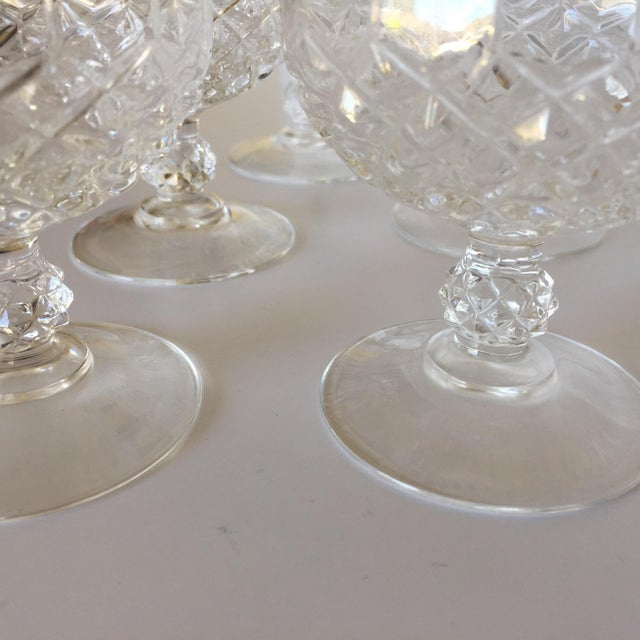 Diamond Faceted Brandy Snifter Glasses by Cristal d'Arques - Set of 10 For Sale In San Francisco - Image 6 of 8
