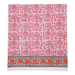 Riyad Flat Sheet, Queen - Pink & Orange For Sale