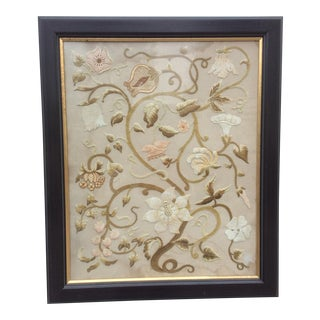 Antique Floral Needlework Art For Sale