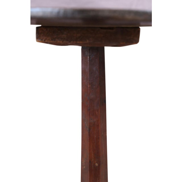 Wood Unconventional Vintage Side Table For Sale - Image 7 of 8