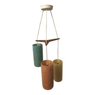 Mid-Century Fiberglass Gravel Pendant Light For Sale