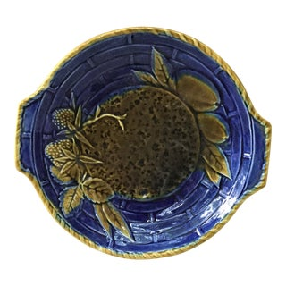 19th Century Small Majolica Platter Wedgwood For Sale