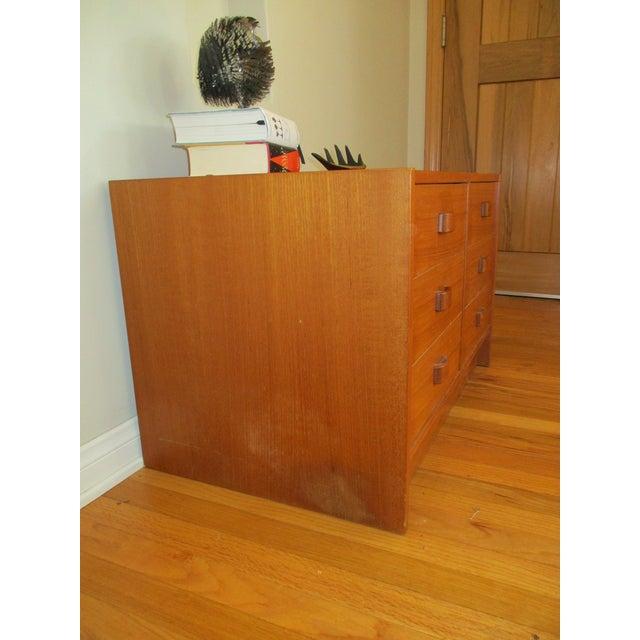 Mid Century Modern Danish Teak Domino Mobler Danish Modern Teak Dresser Nightstand Small Cabinet Jewelry Cabinet - Image 9 of 11
