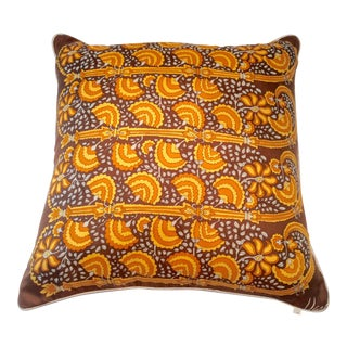 Vintage 1960s Vera Neumann Silk PIllow For Sale