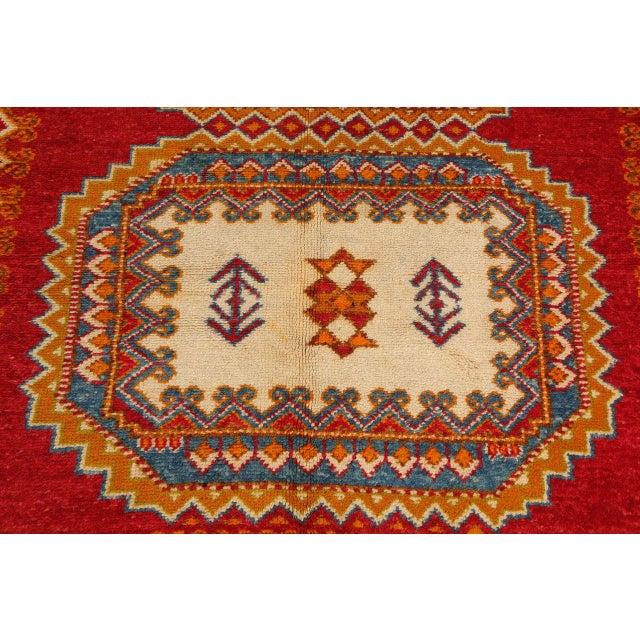 Textile Vintage Moroccan Orange Tribal Rug For Sale - Image 7 of 10